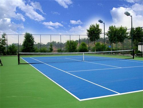大连金石滩管委会聚氨酯塑胶网球场