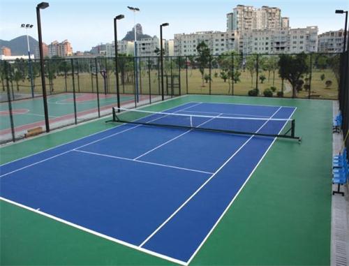 丹东圣泊山庄聚氨酯网球场