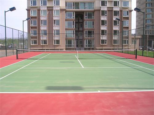 大连兰亭山水小区聚氨酯塑胶网球场