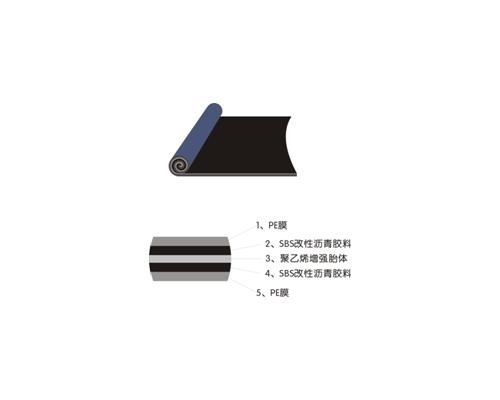 改性沥青聚乙烯胎体防水卷材